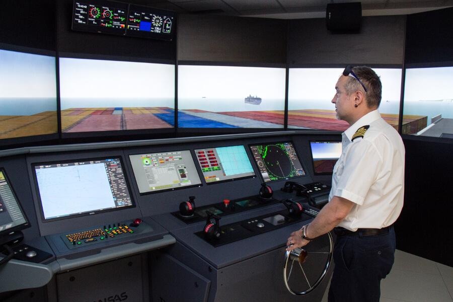 Gallery - full mission bridge simulator for seafarers training